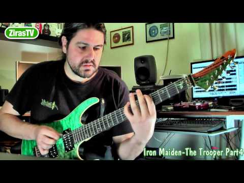 Iron Maiden - The Trooper Part4 (Play Your Own Solo) Guitar Lesson