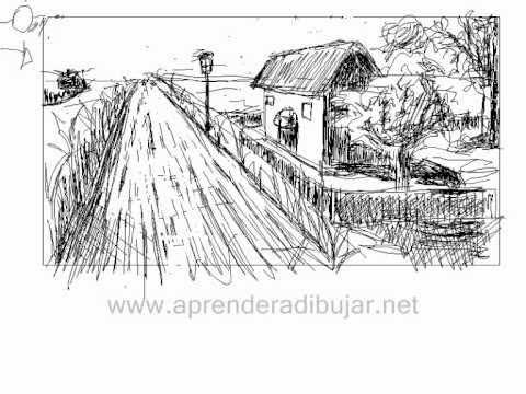 Como dibujar paisajes paint landscapes for Casas para dibujar
