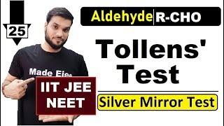 L25 Tollens Test  Oxidation of Aldehyde  JEE NEET