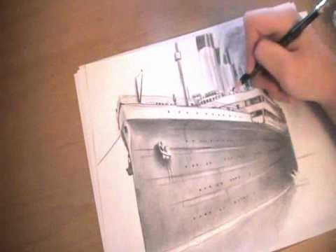 Titanic Pencil Drawings Speed Drawing Titanic