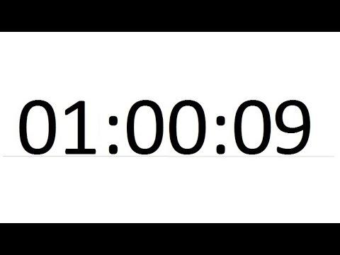 секундомер один час одна минута