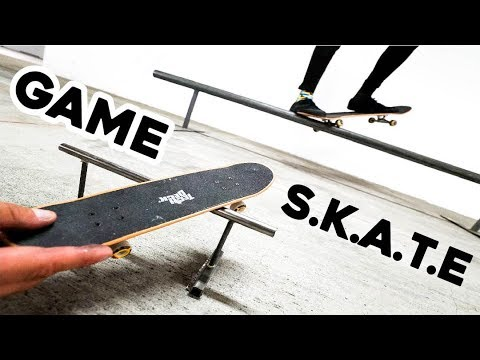 HANDBOARD VS SKATEBOARD GAME OF S.K.A.T.E!!!