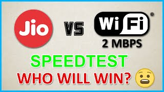 Reliance Jio 4G Data Vs Wifi 2Mbps SpeedTest - WHO WINS?(Youtube,Browsing,Downloading & More)