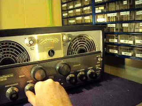 Afternoon Listening to the Hallicrafters SX-100 Mark 1B Radio Receiver
