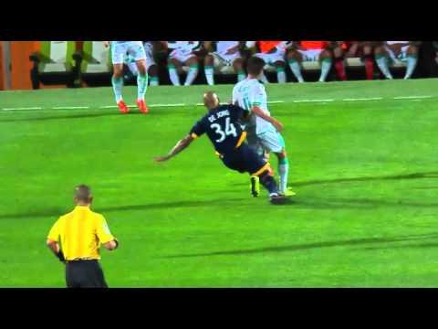 Yellow Card LAG No. 34 Nigel DE JONG   @LAGalaxy @ClubSantosEn @ClubSantos @scotiabankfc #SCCL