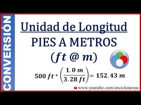 Convertir Pies A Metros (ft A M)