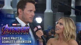 Scarlett Johansson and Chris Pratt at the Premiere