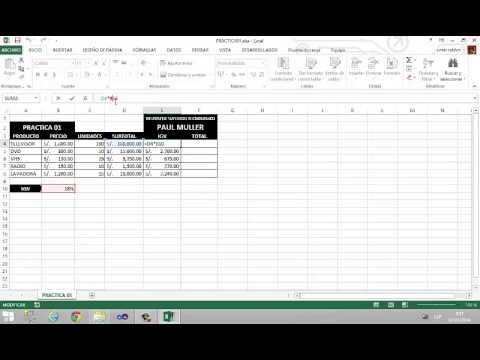 Práctica 01  - Microsft Excel