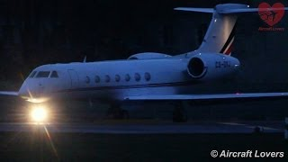 NetJets Europe Gulfstream G550 [CS-DKJ] night Taxi & Takeoff @ Berlin-Tegel 29.12.2013
