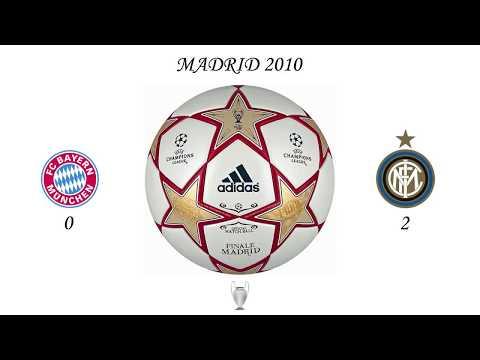 El himno de la Liga de Campeones de la UEFA impone más que nunca en las finales de Roma (minuto 0:10), Madrid (minuto 1:00), Londres (minuto 1:50) y Múnich (minuto 2:40).