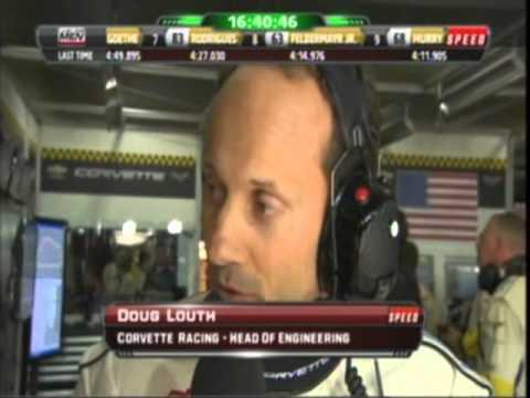 2011 Lemans Hour 8 Corvette Racing Pit Stop and Doug Louth