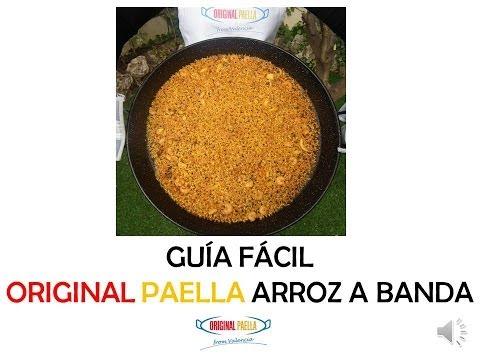 Como hacer el original ARROZ A BANDA, receta de PAELLA www.originalpaella.com desde Valencia, España