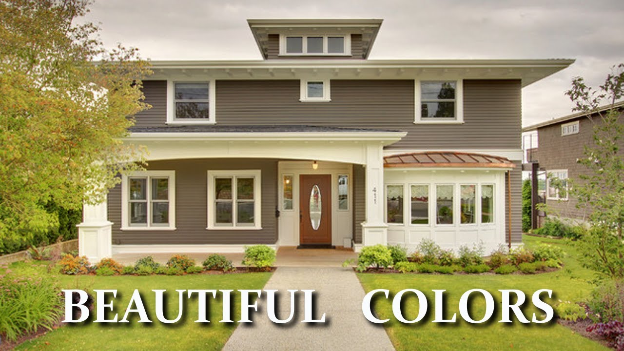 Beautiful colors for exterior house paint choosing for Exterior paint colors for homes pictures