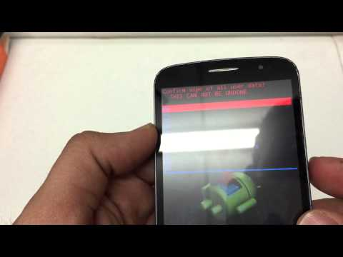 How to Hard Reset The Alcatel ONETOUCH Fierce 2 Metro PCS Android 4.4 Remove Password