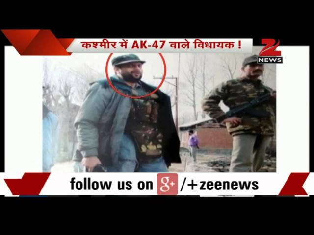 J&K: PDP MLA Javid Mustafa Mir criticised for posing with AK-47