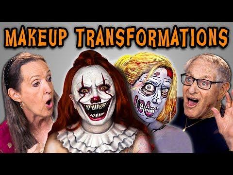 Elders React To Halloween Makeup Transformations