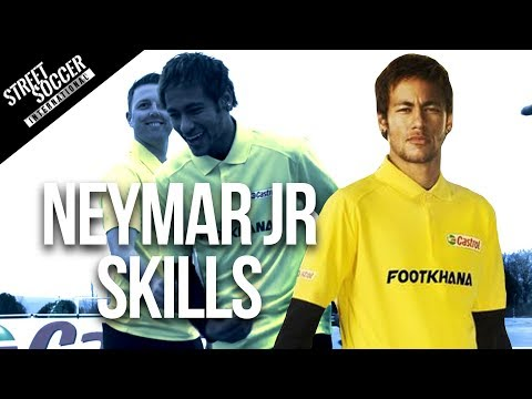 Neymar Skills 2014 - Learn Football soccer Skills With Neymar & Cafu video