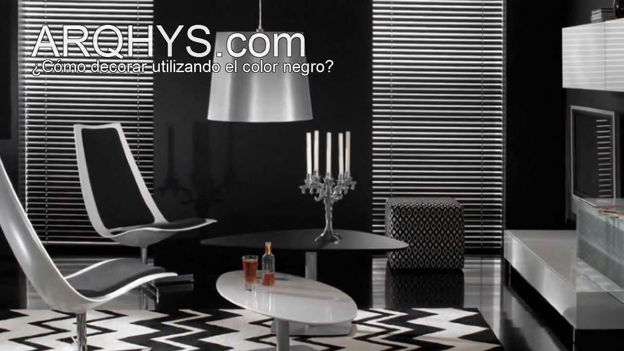 El color negro en la decoraci n del hogar youtube for El color en la decoracion