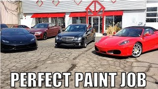 I Took My Cheap E55 AMG To A Ferrari & Lambo Body Shop To Get Fixed & Painted. Now It Looks Too Good