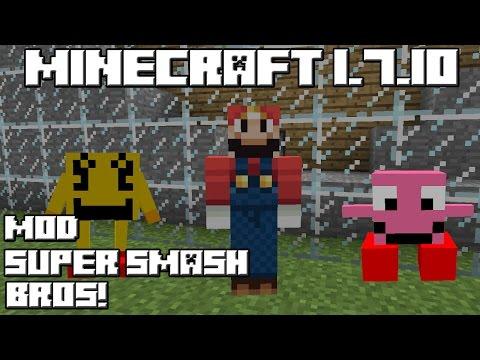 Minecraft 1.7.10 MOD SUPER SMASH BROS!