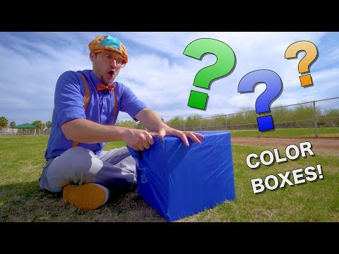Learn Colors with Blippi | Educational Videos for Toddlers | Color Boxes!
