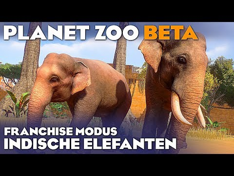 PLANET ZOO BETA INDISCHER ELEFANT 4K Planet Zoo Deutsch German Gameplay #35