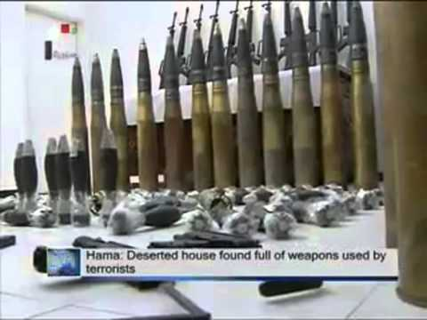 Syrian fake CIA rebels Captured With Israeli Weapons! The proof part 1