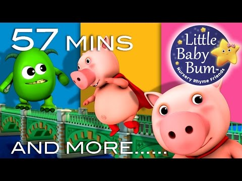London Bridge Is Falling Down | Plus Lots More Nursery Rhyme | 57 Minutes from LittleBabyBum!