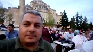 Public Iftar in Fatih Mosque Park - Istanbul