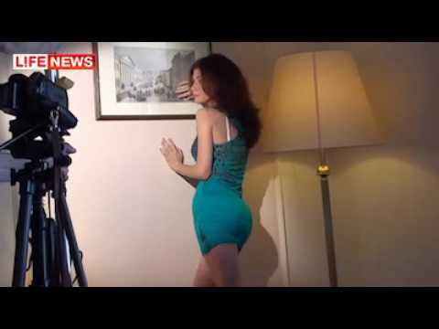 Russian Spy Anna Chapman sexy photo session in Moscow Video