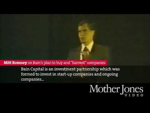 Mitt Romney on Bain's plan to buy and