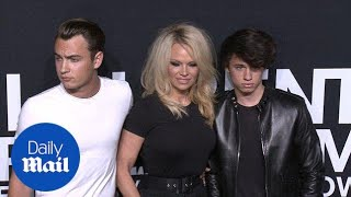 Pamela Anderson brings her sons to Saint Laurent in February - Daily Mail