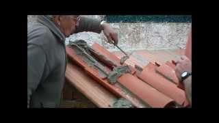 Replanteo y construcción pequeña cubierta con teja árabe  vídeo nº 165