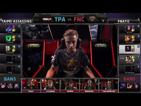 Taipei Assasins vs Fnatic | All-Star 2014 Invitational Group Stage Day 2 | FNC vs TPA