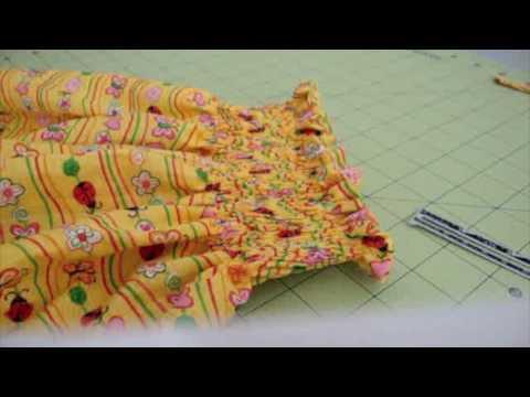 Vestido de niña # 2 Plisado con elastico