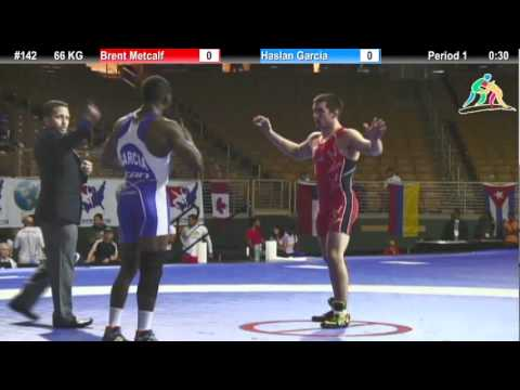 Brent Metcalf (USA) vs. Haslan Garcia (CAN) - 2012 Pan Am: 66 KG FS Gold