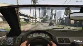Геймплей GTA 5,вид от первого лица (PS4)