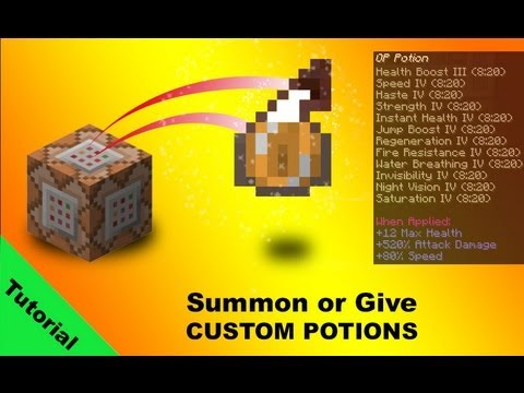 Tutorial: Custom potions using /give and /summon commands in minecraft 1.7