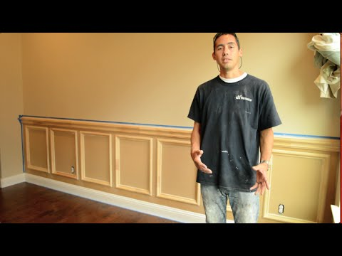 Recessed Panel Wainscoting Installation - How to Install
