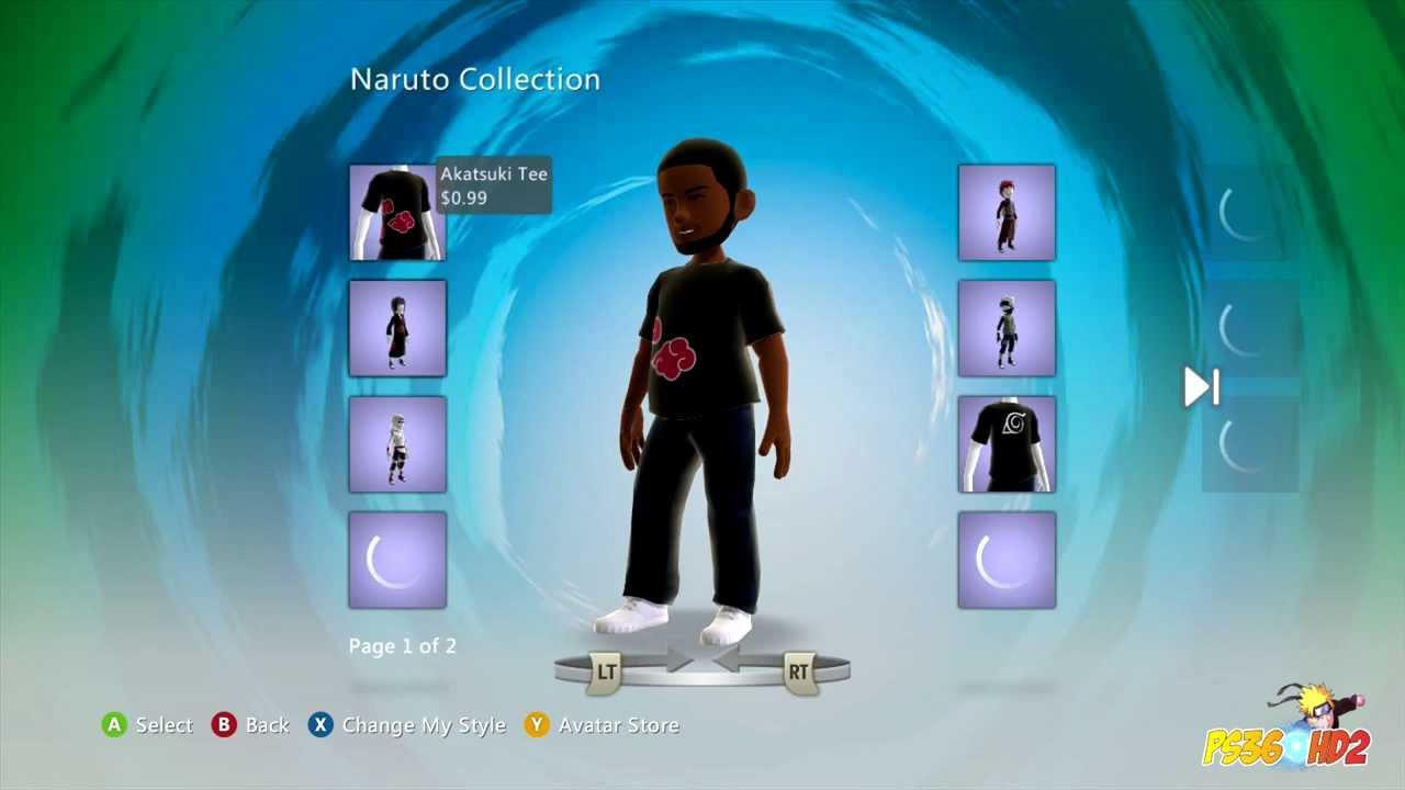 Naruto Shippuden Xbox Avatar Costumes YouTube