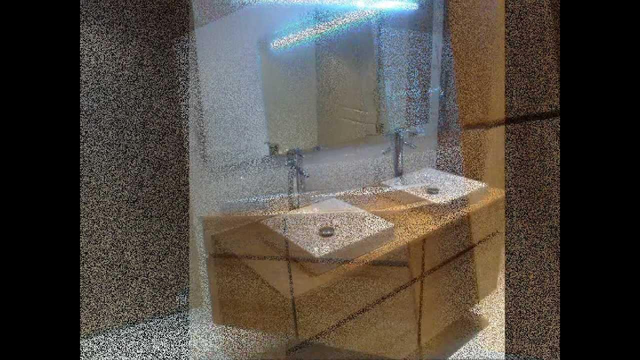 Création salle de bain dans un grenier, meuble double