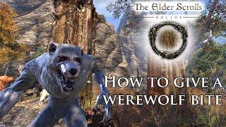 Elder Scrolls Online : How to give a Werewolf Bite! (Warning:OLD!!!!)