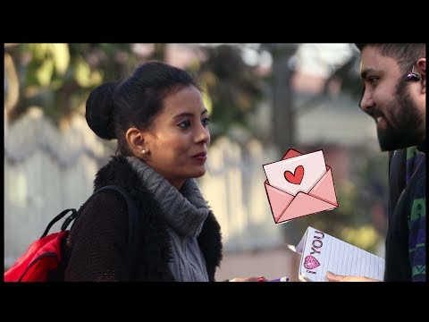 Giving Love Letter to Girls - Happy Valentines day | Pranks in India 2018 | Unglibaaz