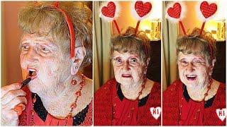 Grandmas Valentine's Day Makeup Tutorial