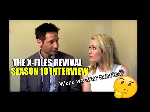 David Duchovny Gillian Anderson Interview X Files Revival