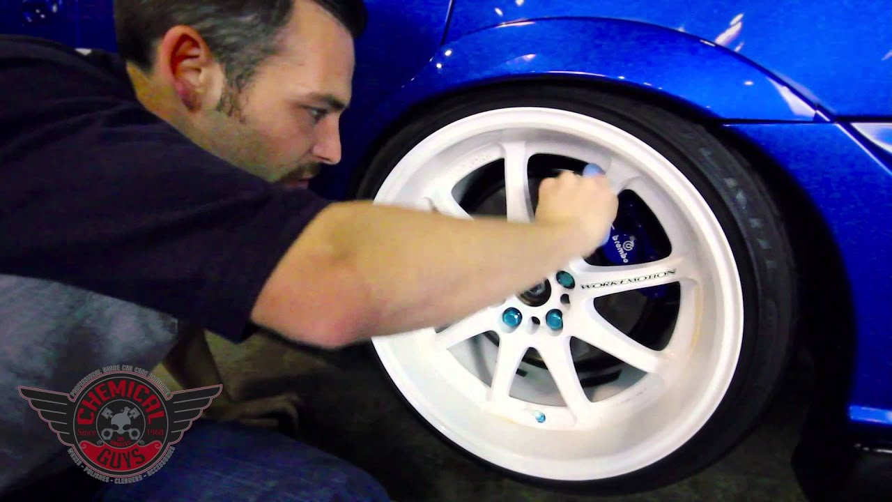 how to detail white wheels chemical guys car care 07 sti white with blue rims