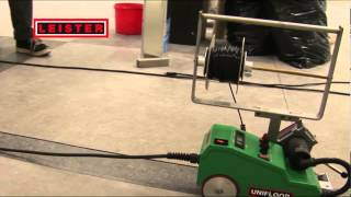 Welding floor with Leister