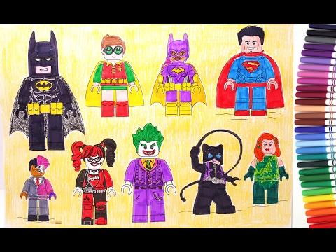 Lego batman movie batman robin superman batgirl harley quinn joker coloring pages