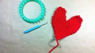 How to Loom Knit a Heart Shape (DIY Tutorial)