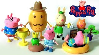 Peppa Pig Toys NEW 2017 Piggy George, Mr. Potato, Princess Peppa Flight attendant by Funtoys